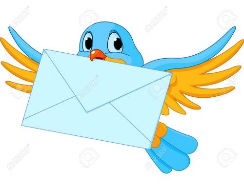 Un porumbel cu o scrisoare in cioc